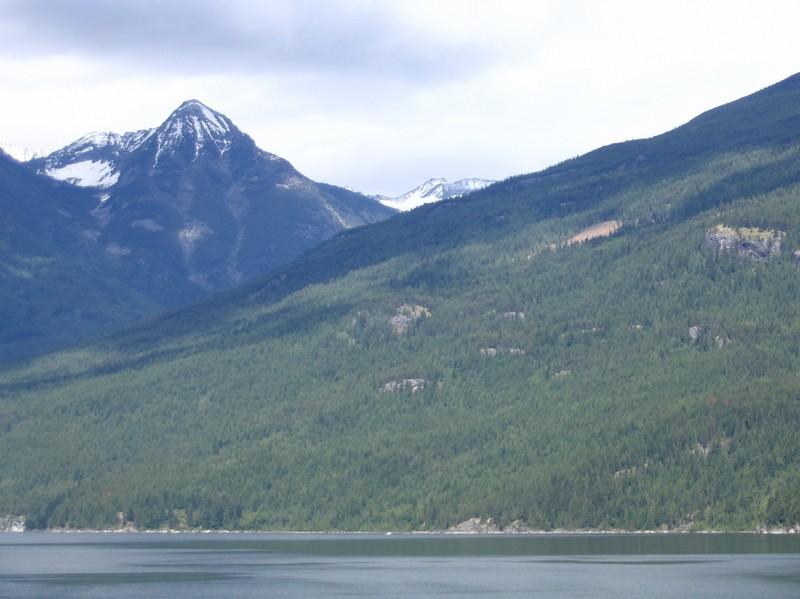 Views of Kootenay Lake towards Kaslo