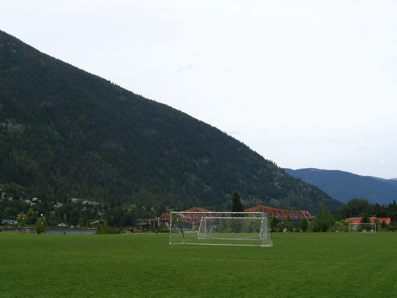 Soccer fields by Lakeside, Nelson BC