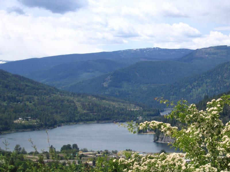 Kootenay Lake Arm towards Castlegar
