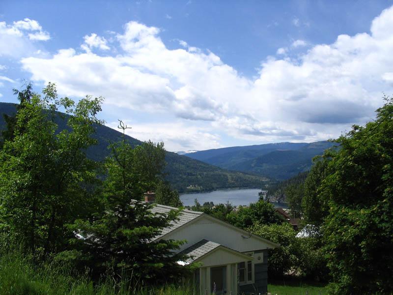 Views over Kootenay Lake Nelson BC