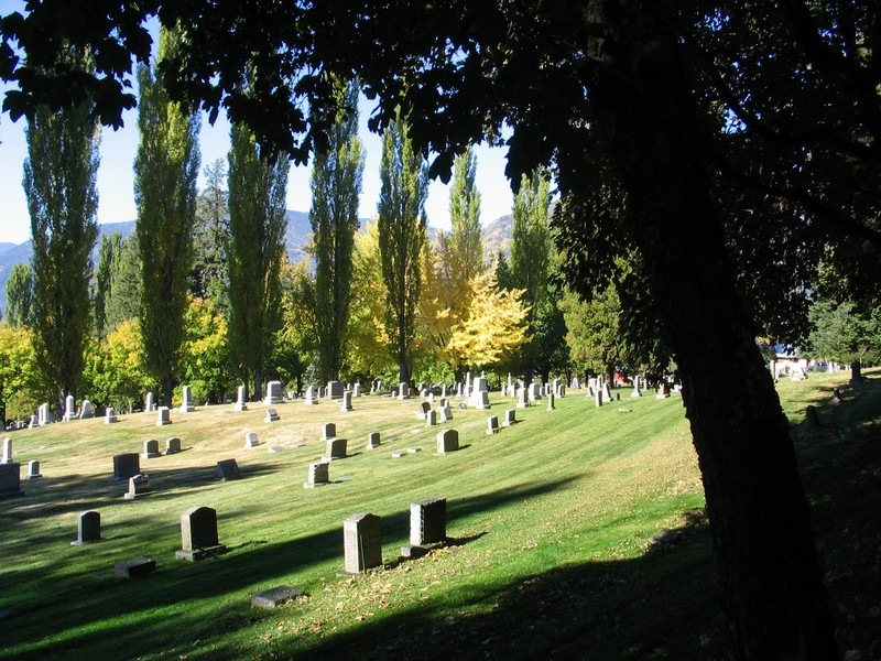 Nelson Cemetery in the sunshine