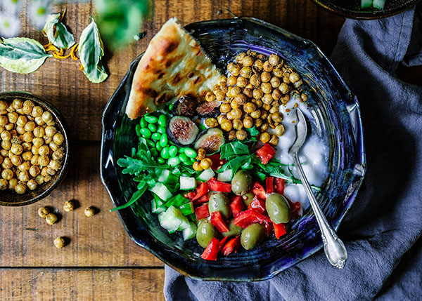 healthy bowl of food